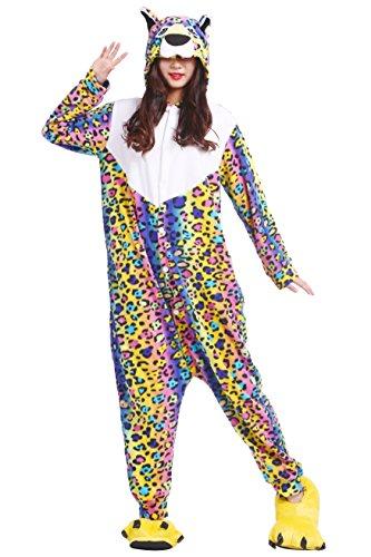 chsene Onesies Kigurumi Blumen Leopard Tier Pyjama Größe XL (Blume Festival Kostüm Für Jungen)