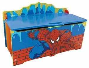 Jemini - 711767 - Ameublement Et Décoration - Coffre A Jouets En Bois - Spiderman Avec Fermeture Sécurisée