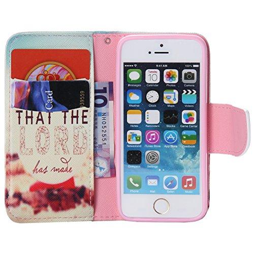 PU Silikon Schutzhülle Handyhülle Painted pc case cover hülle Handy-Fall-Haut Shell Abdeckungen für Smartphone Apple iPhone 5 5S SE +Staubstecker (11LC) 4