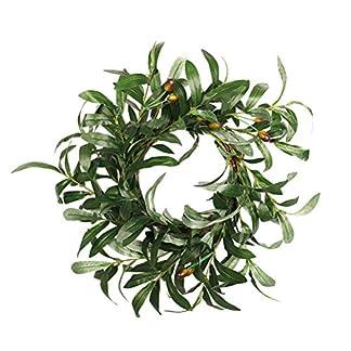 BESTOYARD-Weihnachtskranz-Olivenbltter-fr-Weihnachten-Ernte-Herbst-Ernte-Ernte-Erntedankfest-Trkranz-Dekoration-45-cm