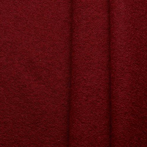 Favorit Walkloden - 100% lana virgen - Lana cocida, suave y caliente - Por metro (Burdeos)