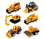 Popsugar Die Cast Mini Construction Super Builder 6 Pieces (Yellow,THR1017-6)
