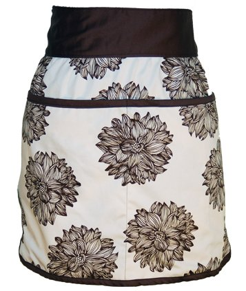 A Greener Kitchen AP007 Organic Cotton Half Apron - Evelyn in Chocolate...