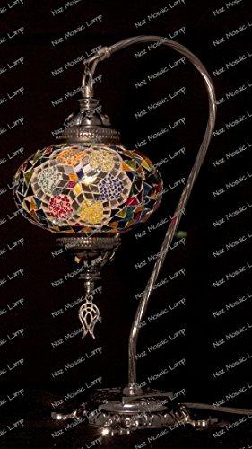Mosaik Tisch Lampe, Lampe, Türkisch Lampe, marokkanische Lampe, Schwanenhals - Mosaik-tisch-lampe