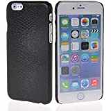 MOONCASE Snake skin Hard Rubber Coating Back Case Cover for Apple iPhone 6 ( 4.7 inch ) Black