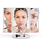 Ovonni LED Spiegel 4 in 1 verschiedene Vergrößerungsspiegel (Normal/2x/3x/10x) mit beleuchtung...