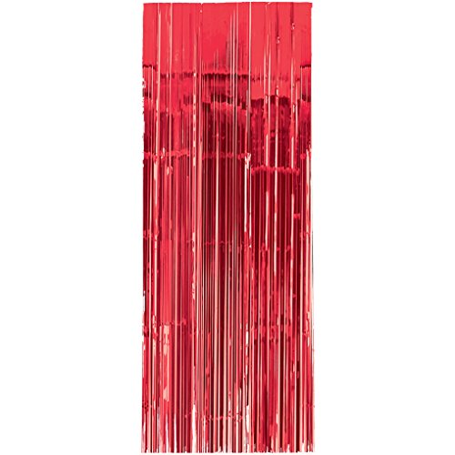 Amscan International–24200–4091cm x 2,43m Apple rojo cortina para puerta