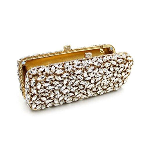 Mode Für Frauen Diamantabendtasche High-End-Diamanten Bankett Tasche Handtasche Gold