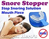 Gadget Hero's Snore Stopper Sleep Apnea Help Aid, Food Grade EVA, Mouth Piece
