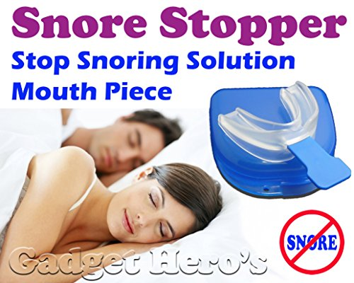 Gadget Hero's Snore Stopper Sleep Apnea Help Aid, Food Grade EVA, Mouth Piece, Bruxism Support, Anti Snore Device ...
