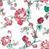 Serviette Servietten Verschiedene Blumenmotive zur Auswahl edel 33x33 cm 20 Stück 3-lagig Frühling Sommer Kaffee Geburtstag Hochzeit von Home F (Serviette rote Rosen)