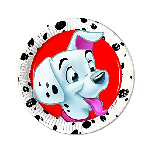 """Motiv: """"101 Dalmatiner"""", 20cm, 8Stück (Puppy Party Supplies)"""