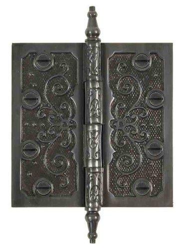 Messing Elegans lf003dbz massivem Messing Lafayette 3,5Dekorative Tür Scharnier mit Messing Schrauben, dark bronze finish - Lafayette Tür