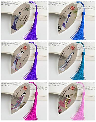 THTHT Vintage Vena Creativa Segnalibro Donne in Adream di Palazzi Rosso Classico Stile Cinese Ufficio Studenti Bambini Lettura Giovane Dono Semplice Moda 6 Pezzo Suit
