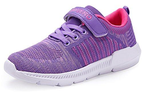 JSLEAP Kinder Tennisschuhe Jungen Mädchen Sneakers Leichte Low-Top Laufschuhe für Kleinkind/Little Kid/Big Kid, Lila, 36 EU
