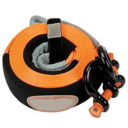 Car Tow Rope 5 Tonne 5 Meter-Abschleppseil Für Auto-Anhänger-Seile mit 2 Haken-Winden-Schleppseil-Gurt-Winde-Kabel-Gurt-Auto-Notfall-Wesensmerkmale,Orange