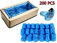 Shoe Covers Machine, Automatic Shoe Cover Dispenser with 200pcs Disposable Plastic Boot &Shoe Cover, Porta