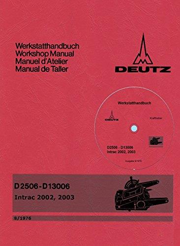 Preisvergleich Produktbild CD Werkstatthandbuch Deutz Hydraulik Baureihe 06