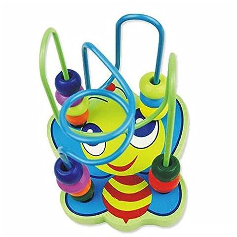 Frashing To Have Fun !!! Heiße Kinder scherzt Baby bunte hölzerne Mini um Perlen pädagogisches Spiel Spielzeug Educational Game (Bagger Kostüm Diy)