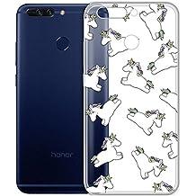 Cover Per Huawei Honor 8 Pro / Honor V9 5,7 pollici,Sunrive® Custodia Case in molle Trasparente TPU silicone Morbida Flessibile Pelle Antigraffio protettiva(tpu Unicorno)
