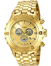 Invicta Reserve Men's Chronograph Quartz Watch with Stainless Steel Gold Plated Bracelet – 14506