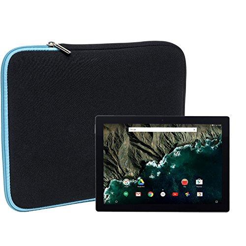 Slabo Tablet Tasche Schutzhülle für Google Pixel C Hülle Etui Case Phablet aus Neopren – TÜRKIS/SCHWARZ
