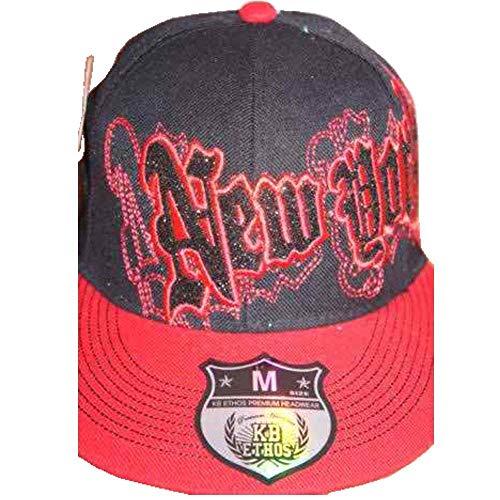 KBETHOS - Casquette de Baseball - Homme Multicolore Noir/rouge