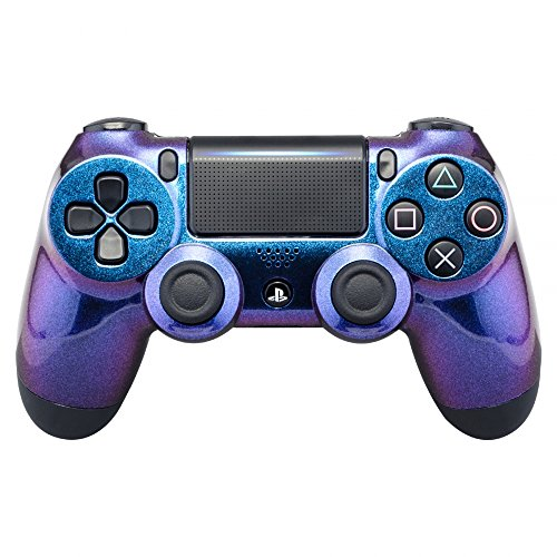 eXtremeRate® Purple and Blue Chameleon Front Housing Shell Faceplate for Playstation 4 PS4 Slim PS4 Pro Controller (Model CUH-ZCT2)