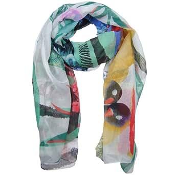 Desigual 41w5725 panu carry desigual écharpe pour femme en chiffon blanc-longueur :  185 x 100