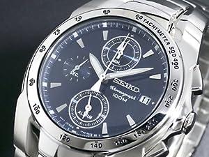 Seiko SNA521P1 - Reloj cronógrafo de caballero de cuarzo con correa de acero inoxidable plateada - sumergible a 100 metros de Seiko