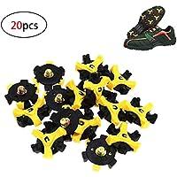 20 Universal Antideslizante Clavo para Zapato de Golf, Golf Spikes Tacos Zapatos Golf para Pinchos, Repuestos de Golf Zapatilla Pikes, Tacos,Estilo Repuesto Golf Spikes para Foot Joy