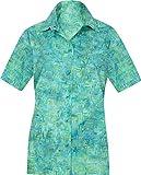 LA LEELA entspannte Freizeitkleidung Strand Hawaii Hemd Türkis_AA142 L - DE Größe :- 46-48