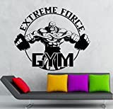 Wall Sticker Vinyl Decal Gym Extreme Force Bodybuilding Fitness Sport (ig2190) by Wallstickers4you