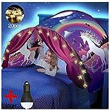 Dream Tents - Tente de Lit Enfants Tente Playhouse de Tente Apparaitre Intérieure Enfant Jouer Tentes Cadeaux de Noël pour Enfants (Licorne)