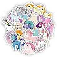 33 Pieces unicorn waterproof PVC Car Sticker Motorcycle Bicycle Stickers with Waterproof for Laptop Suitcase l
