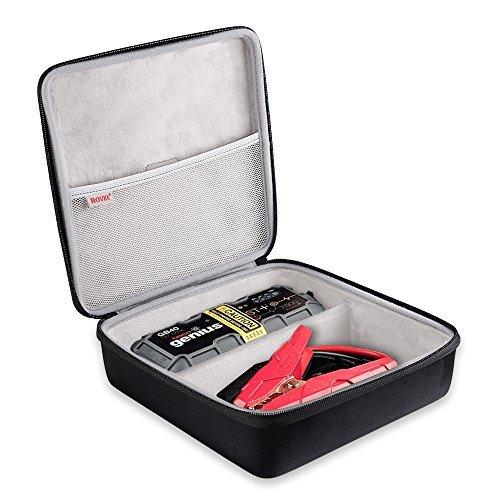 bovke für Noco Genius Boost Plus GB401000AMP 12V Ultrasafe Lithium Jump Starter Hard Eva stoßfest mit Fall Aufbewahrungsbox Fall Tasche Schutz Tasche Box, schwarz schwarz (Premium-starter-box)