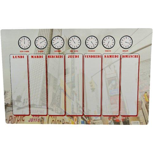 New York - Tableau Magnet Frigo Planning Emploi du Temps Business New York Times Square