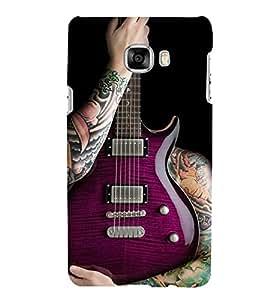 Fiobs Designer Back Case Cover for Samsung Galaxy C5 SM-C5000 (Guitar Symbol Music Sangeet Cool)