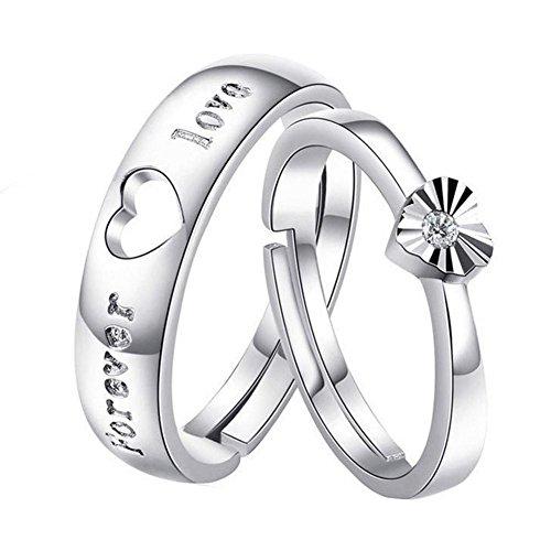 ZPL S925 argento anello di coppia per women(adjustable) aperto