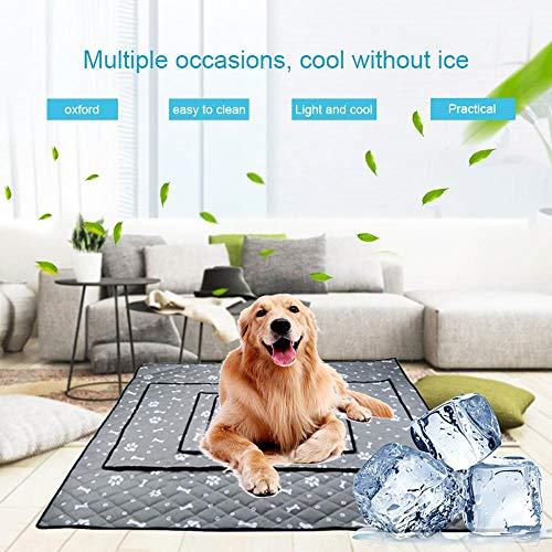 Foonee Extra Große Ice Silk Kühlmatte Für Hunde, Pet Self Cooling Pad Für Zwinger, Kiste, Bett, Atmungsaktive Decke Halten Sie Den Sommer Kühl Für Katzen Und Hunde