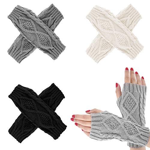 guanti senza dita donna Emooqi Guanti Senza Dita Caldo a Maglia