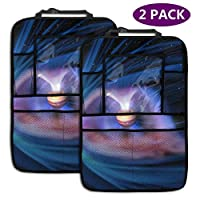 AGnight Automotive SeatBack Organizers,Car Seat Back Storage Pockets Kick,Touch Screen Tablet Holder,2 Pack Jupiter Wallpaper