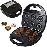 Syntrox Germany Chef Maker Appareil acier inoxydable Maker Machine à Donuts Plaques Amovibles 1300W Donut SM avec