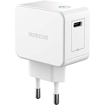 dodocool Chargeur Secteur USB Type C Power Delivery 18W Chargeur Mural Recharge Rapide Adaptateur Universel pour iPad Pro 2018/iPhone X/XS/XR/8 Plus/8/Galaxy S8 +/Nexus 5X/6P et Plus
