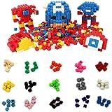 Micro Blocks Set Pixel Bricks - Lego Brick Blocks 1500 Pieces 6 Side Connectors 100 Each Of 15 Colors