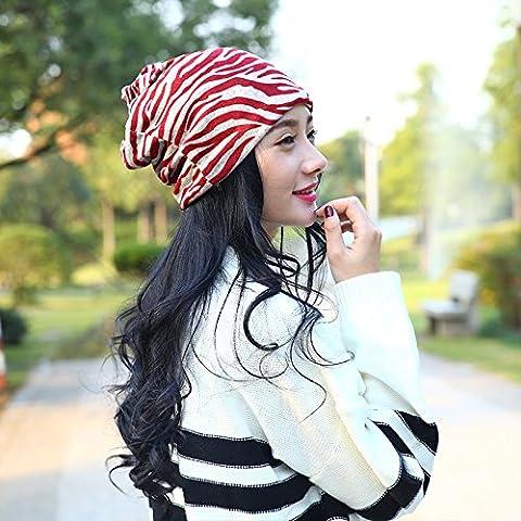 Esclusivo Unisex cavo caldo maglia spessa Slouch Beanie Hat Cap sci , wine red