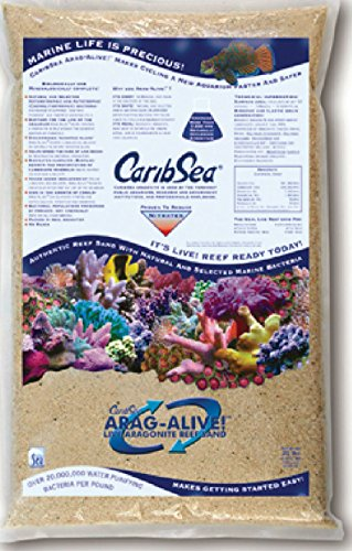 CARIBSEA 455ml arag-Alive 2er Spezial Reef Sand, 9kg (Live Sand Reef)