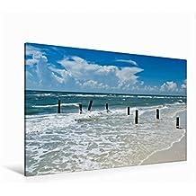 Premium Textil-Leinwand 120 cm x 80 cm quer FLORIDA Golf von Mexiko | Wandbild, Bild auf Keilrahmen, Fertigbild auf echter Leinwand, Leinwanddruck: Idyllischer Meeresblick (CALVENDO Natur)