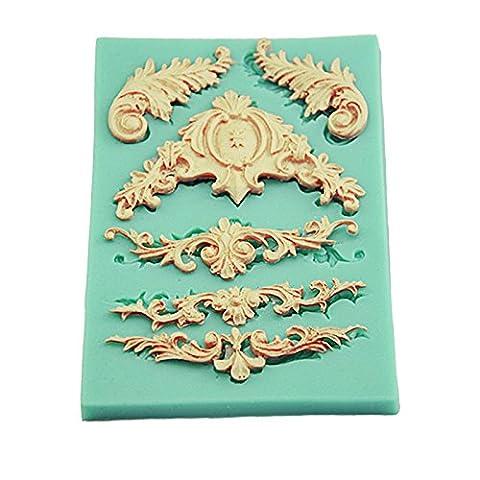 Musuntas européenne Retro Relief Supercross moule en silicone pour un effet de dentelle Gâteau 3D motif silicone Fondant Cookie Cutter Classique