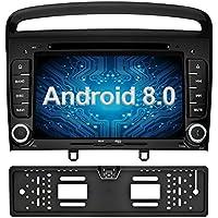 Ohok 7 Pulgadas 2 DIN Autoradio Android 8.0.0 Oreo Octa Core 4GB Ram 32GB ROM GPS Navegador Radio Soporta Bluetooth WIF AV-IN Dab para Peugeot 308 2011 2012 ...